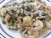 Low Fat Seafood Fettuccine