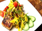 Halibut With Thai Spicy Mango Salad - Thai Cooking
