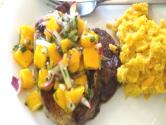 Curry Rubbed Pork Chops With Mango Salsa