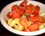 Marinated Tomatoes And Cucumbers
