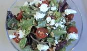 Mediterranean Tossed Garden Salad With Tahini Dressing