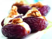 Medjool Dates With Cream Cheese & Walnuts