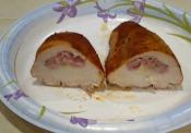 Smoked Chicken Cordon Bleu