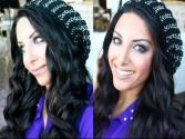 Holiday Glam Metallic Smokey Eyes & Soft Curls