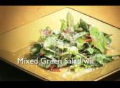 Mixed Green Salad with Pomegranate Vinaigrette