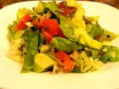 Mixed Greens And Tomatoes With Anchovy Dressing