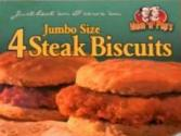Mom N Pop's Jumbo Steak Biscuits Review