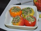 Mushroom And Herb Stuffed Tomatoes