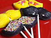 How To Make Chocolate Mustache Lollipops