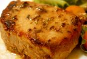 Dijon Butter Pork Chops