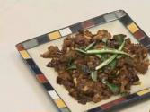 Spicy Dry Mutton With Coconut