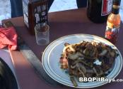Barbecue Steak With Onions And Mushrooms
