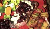 New York Strip With Bleu Cheese Topping And Vidalia Onion Jam  