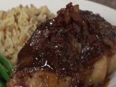 Ny Strip Steak And Bacon Bbq Bacon Glaze With Bv Cabernet Sauvignon