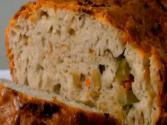 Olive Bread With Caramelized Onion And Gruyere Cheese