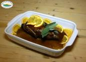 Orange Stuffed Duck With Orange Sauce