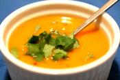 Fall's Orange Kumara Carrot And Lenil Soup