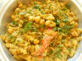 Channa Aloo (curried Chickpeas & Potatoes)