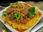 Pan Fried Noodles With Beef Broccoli