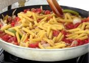 Quick And Easy Creamy Pasta With Sausage And Peppers