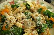 Pasta With Courgette And Carrot Ribbons