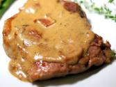 Ham And Veal Patties With Mustard Sauce