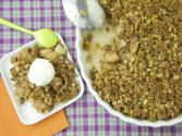 Thanksgiving Dessert Pear Pistachio Crisp