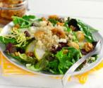Pear Quinoa Salad With Warm Toasted Walnut Dressing