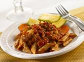 Penne And Fresh Tuna With Raisin And Almond Sauce