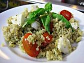 Gluten Free Pesto Quinoa With Tomatoes And Mozzarella