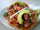 Shrimp Avocado Tostada