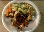 Vegetable Salad, Orzo Salad And Chicken With Tuscan Salsa