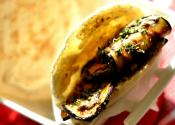 Pita Sandwich With Pan-grilled Eggplant