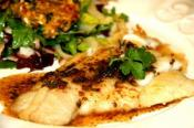 Poached Fish Fillets With Soy Dressing