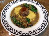 Polenta With Venison Meatballs And Mushroom Ragout
