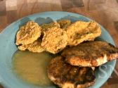 Grilled Pork Chops And Deep Fried Green Tomatoes