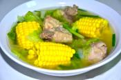 Pork Ribs And Corn On The Cob Soup