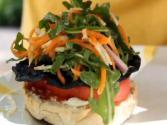 Portobello-arugula Salad Burger- Easy Vegan Burger