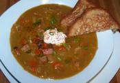Post Holiday Split Pea Soup With Leftover Ham