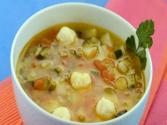 Potato Zucchini And Tomato Soup By Tarla Dalal