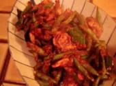 Pad Prik King Green Beans With Chicken