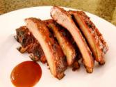 Prime Ribs Of Beef With Horse Radish And Mustard Sauce