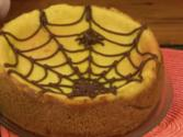Pumpkin Cheesecake With Spider Web - Halloween