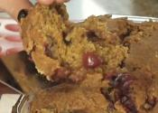 Vegan Fruited Pumpkin  Bread  With Walnut And Cranberry
