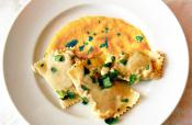 Cheese Ravioli With Pumpkin Sauce