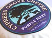 Purple Haze Wine Paired With Cypress Grove Chevre Cheese