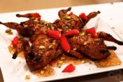 Quail With Rose Petals 