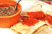 Pepper Quesadilla With Charred Tomato Salsa