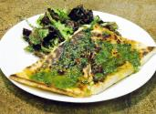 Spicy Shrimp Quesadilla With Asian Pesto Sauce