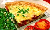 Tomato Bacon And Cheddar Quiche